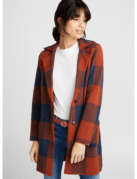 Tailored Collar Check Cardigan by Contemporaine Eau Contemporaine Steve Madden Contemporaine Second Yoga Jeans