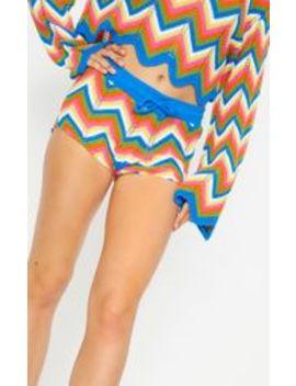 Multi Coloured Zig Zag Crochet Shorts by Prettylittlething