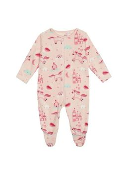 Bluezoo   'baby Girls' Pink Unicorn Print Fleece Sleepsuit by Bluezoo