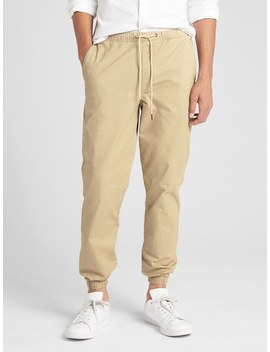 Twill Joggers With Gap Flex by Gap