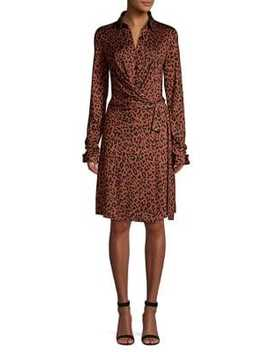 Didi Leopard Print Wrap Dress by Diane Von Furstenberg