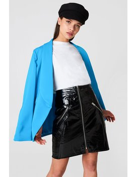 Front Zip Patent Skirt by Na Kd