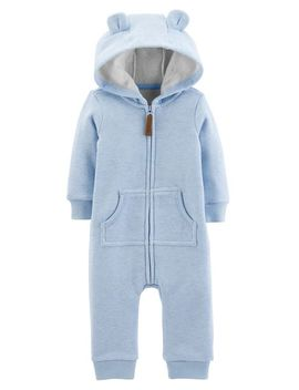 Dog Hooded Fleece Jumpsuit by Carter's