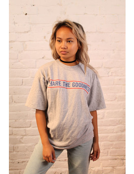 Vintage Grey Hatfield Tee With 'Share The Goodness' – Size Medium by The Ragged Priest