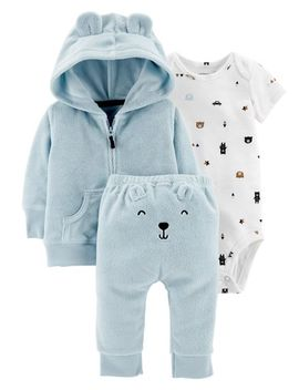 3 Piece Terry Little Jacket Set by Carter's