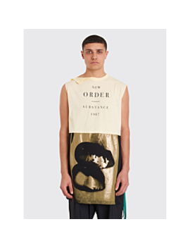 Raf Simons Sleeveless Long T Shirt Yellow by Très Bien