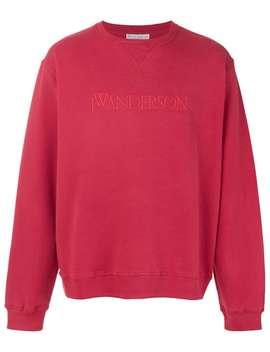 Jw Andersonembroidered Logo Sweatshirthome Men Jw Anderson Clothing Sweatshirtsshort Sleeve Stripe T Shirtembroidered Logo Sweatshirt by Jw Anderson
