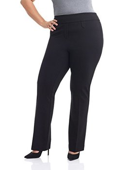 Rekucci Curvy Woman Secret Figure Knit Bootcut Plus Size Pant W/Tummy Control by Rekucci