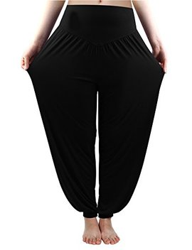 Fitglam Women's Soft Modal Yoga Pants Long Baggy Sports Workout Dancing Trousers by Fitglam