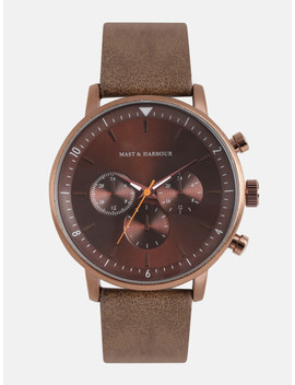 Mast & Harbour Unisex Brown Analogue Watch Mfb Pn Snt E29 by Mast & Harbour