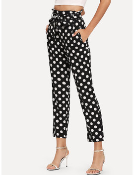 Shein Polka Dot Frilled Pants by Shein