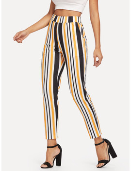 SheinWide Waist Striped Pants by Shein