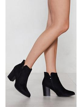 Things Are Looking Up Faux Suede Boot by Nasty Gal