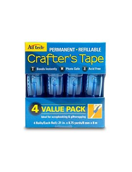 Ad Tech Permanent Crafter's Tape, 0.31 By 315 Inch, 4 Per Package by Ad Tech