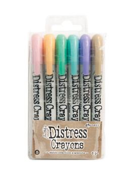 Tim Holtz Distress 6 Pack Crayon Set #5              Tim Holtz Distress 6 Pack Crayon Set #5 by Tim Holtz