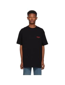 Black 'sinners' Oversized T Shirt by Balenciaga