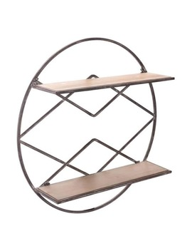Round Shelf Brown by Generic