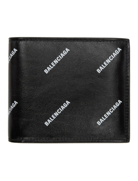 Black All Over Logo Wallet by Balenciaga