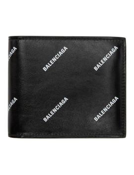 Black All Over Logo Wallet by Balenciaga