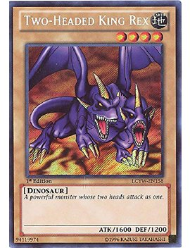 Yu Gi Oh!   Two Headed King Rex (Lcyw En158)   Legendary Collection 3: Yugi's World   Unlimited Edition   Secret Rare by Yu Gi Oh!