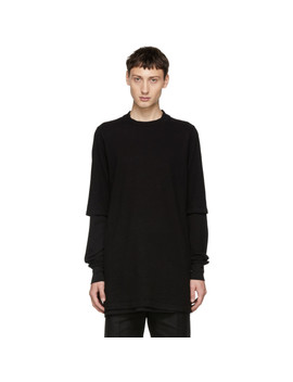 Black Layered Hustler T Shirt by Rick Owens Drkshdw