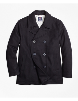 Melton Pea Coat by Brooks Brothers