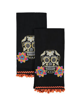 Two Pack Black Kitchen Towels by Noir Night