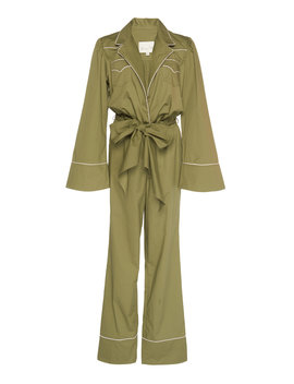 Yerba Bow Detailed Cotton Poplin Jumpsuit by Johanna Ortiz
