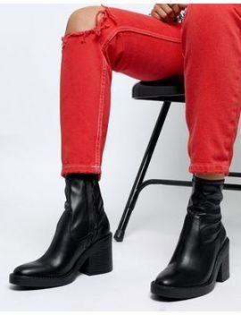 Asos Design – Empower – Stiefel Mit Klobigem Absatz by Asos Design