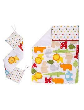 Kiddicare Scrapbook Safari 3 Piece Crib Set by Dunelm