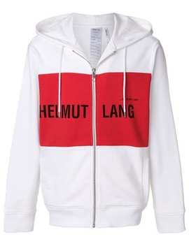 Helmut Lang Campaign Pr Panel Zip Hoodiehome Men Helmut Lang Clothing Hoodiespack Of Three 'stereotype' T Shirts Black Hidden Lace Sneakers Campaign Pr Panel Zip Hoodie by Helmut Lang