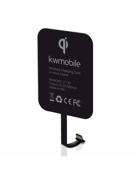 Kwmobile Receptor De Carga Inalámbrico Qi Con Conexión Micro Usb   Receptor De Carga Universal Con Enchufe Micro Usb Para Estaciones De Carga Qi by Kwmobile