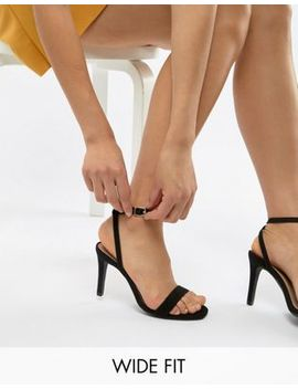 New Look Wide Fit Suedette Heeled Sandal by New Look