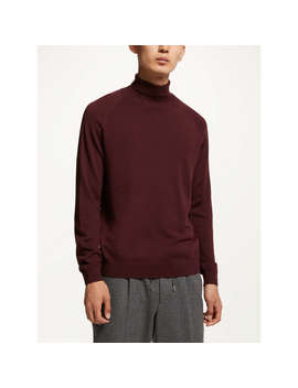 Kin By John Lewis Merino Blend Roll Neck Jumper, Burgundy by Kin By John Lewis