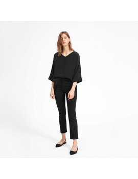 The Clean Silk V Neck Blouse by Everlane