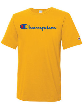 Men's Heritage Script Logo T Shirt by Champion