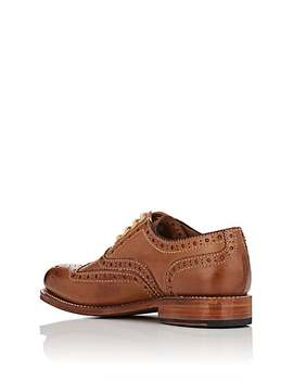 Rose Leather Wingtip Balmorals by Grenson