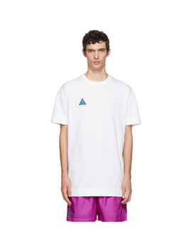 White Light Menta T Shirt by Nike Acg