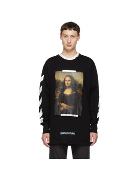 Ssense Exclusive Black Diagonal Monalisa T Shirt by Off White
