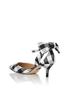 Anya Gingham Ankle Strap Pumps by Paul Andrew