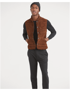 Quilted Suede Vest by Ralph Lauren