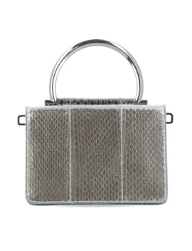 Salvatore Ferragamo Women's  Silver Leather Handbag by Salvatore Ferragamo