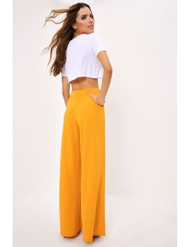 Mustard Military Wide Leg Trousers by I Saw It First