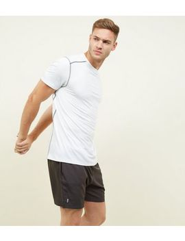 Dark Grey Running Shorts by New Look