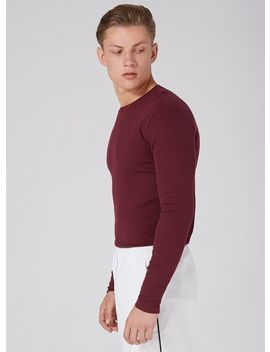 Burgundy Muscle Fit Ribbed T Shirt by Topman