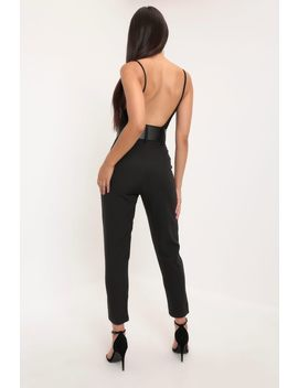 Black High Waist Belted Trouser by I Saw It First