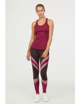 Shimmering Yoga Tights by H&M