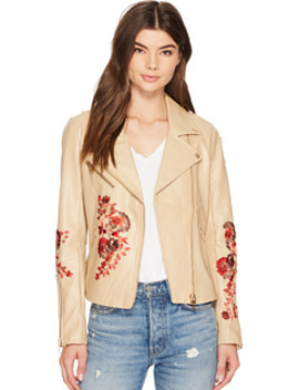 Floral Moto Jacket In Wildflower by Blank Nyc