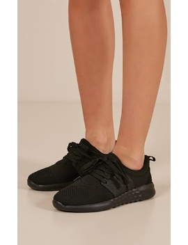 Radial Sneakers In Black by Showpo Fashion