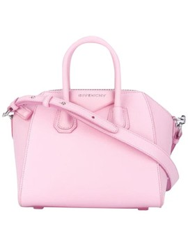 Mini Antigona Pink Leather Tote by Givenchy